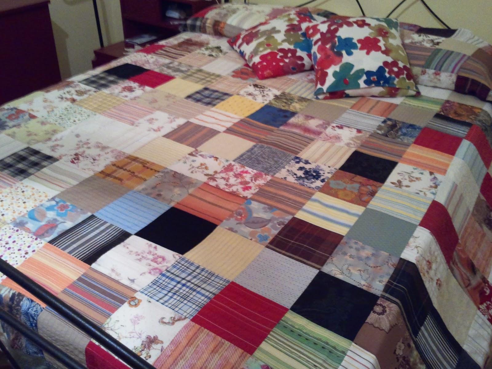Come fare un copriletto patchwork centomilaidee for Idee riciclo fai da te