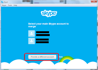 Select or specify your Skype account