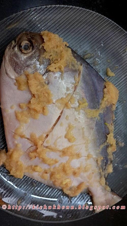 Masala fried spicy pomfret fish