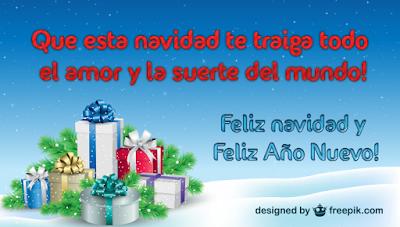 postal con Frases para Navidad