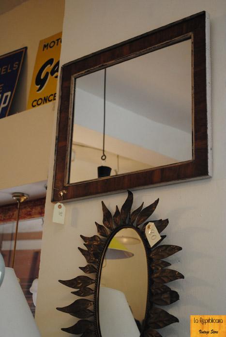 La madera reina del rustic style la republicana vintage for Espejo cuadrado sin marco