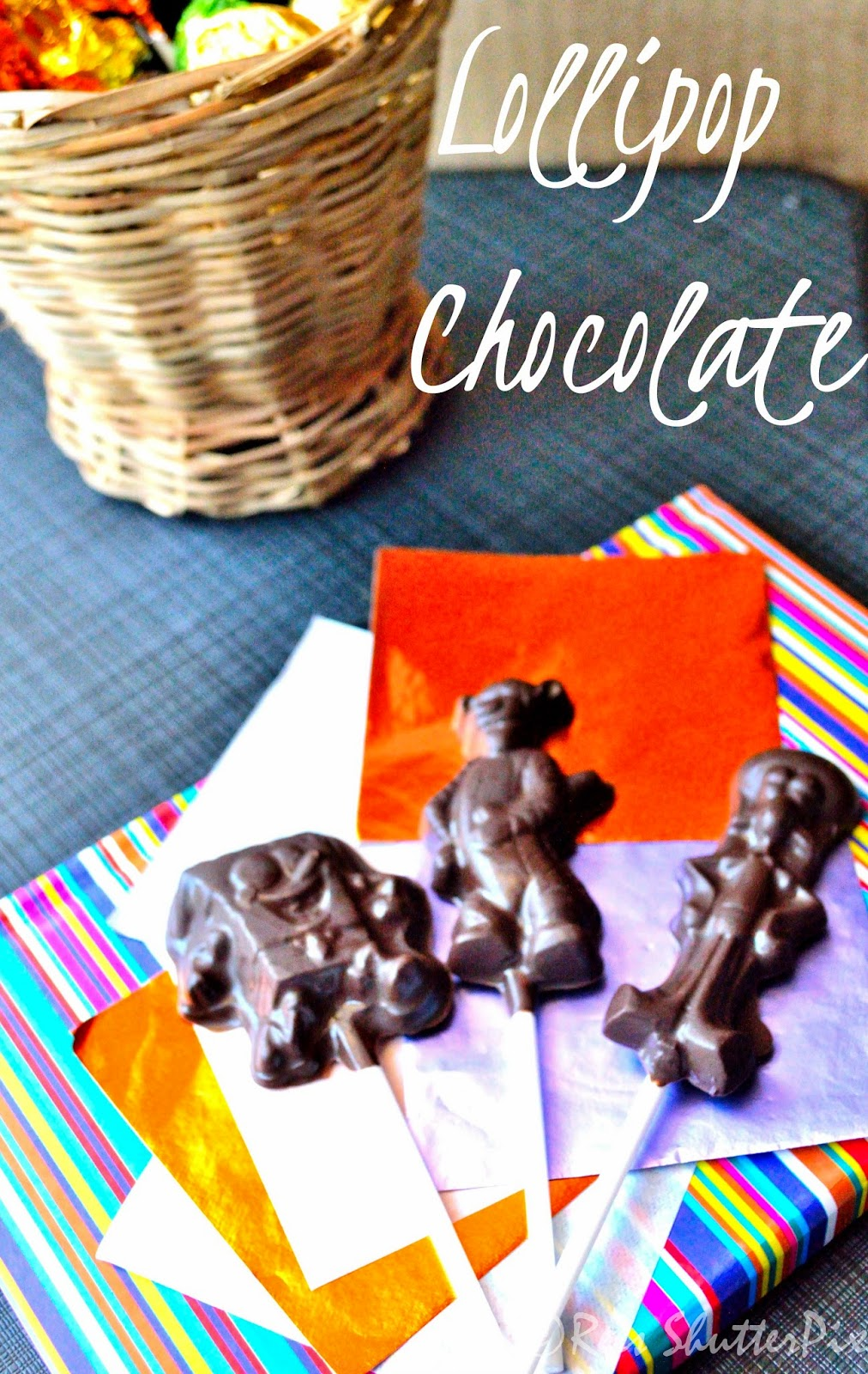 how to make lollipop chocolates at home