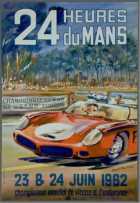 Affiche officielle des 24 Heures du Mans 1962