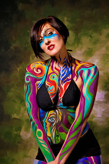 Women Body Paint Models