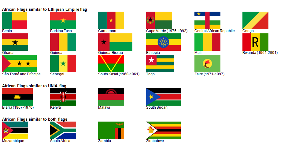 Flags Of Africa To Color