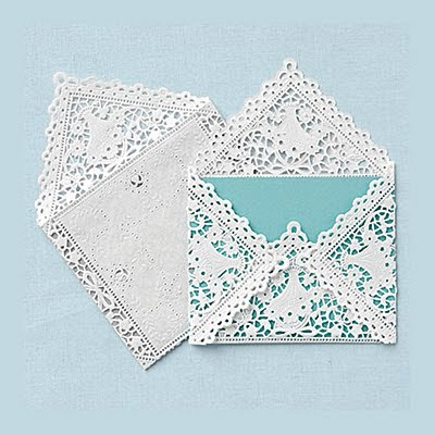 These DIY Lace Envelope Doilies are a great way to dress up your shower or