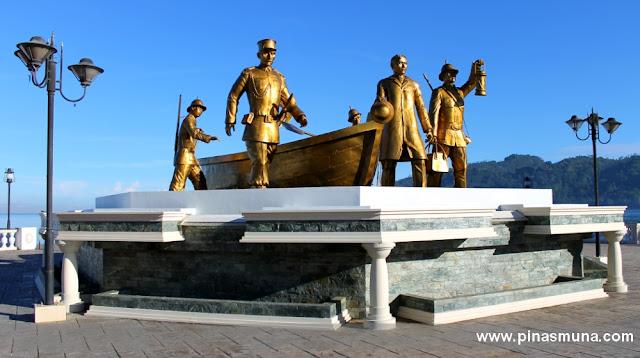 monument on Rizal's Landing Site in Dapitan