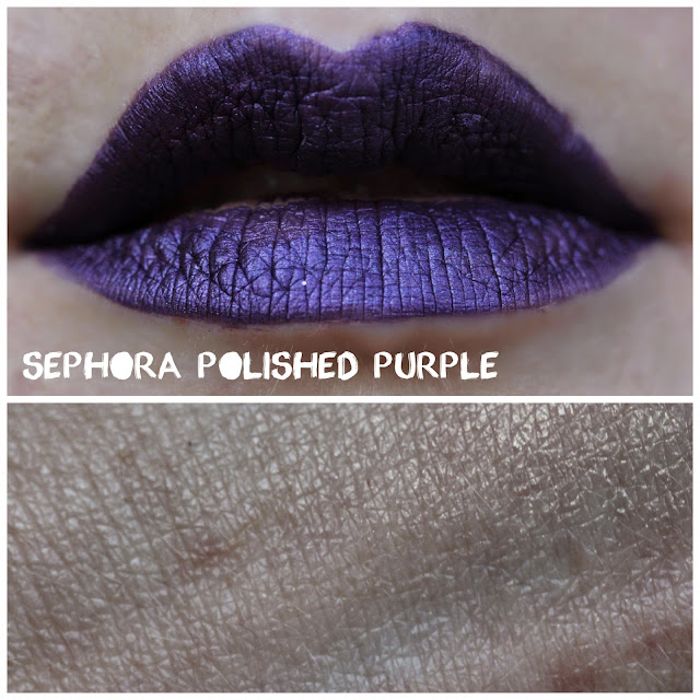 Sephora Cream Lip Stain in 15 Polished Purple