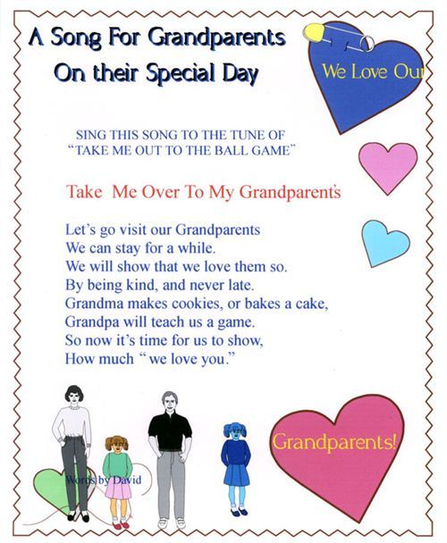 Top Grandparents Day Crafts And Poems: Take Me Over To My Grandparents Poems Change To A Song For Grandparents On Their Special Day