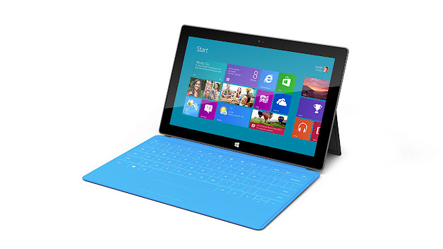 Microsoft Surface Tablet with Windows 8 Pro & RT front side