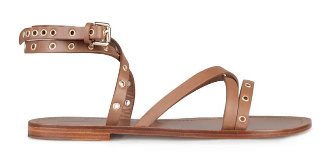 Rebajas SS 2015 complementos sandalias planas marrones