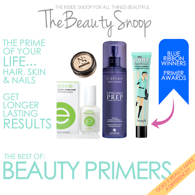 essie protein base coat, NS Minerals eye primer, Alterna Style Prep, Benefit Porefessional