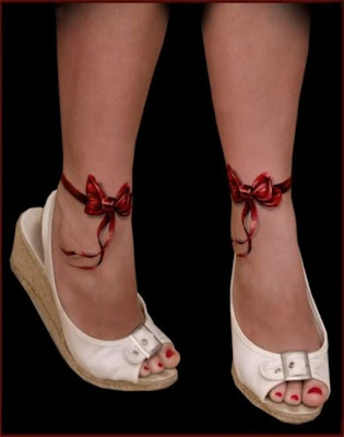 bow tattoo on ankle. Ankle Tattoos