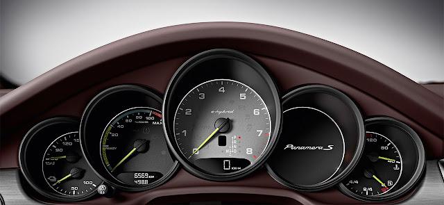Porsche Panamera with Plug-in Hybrid drive dash