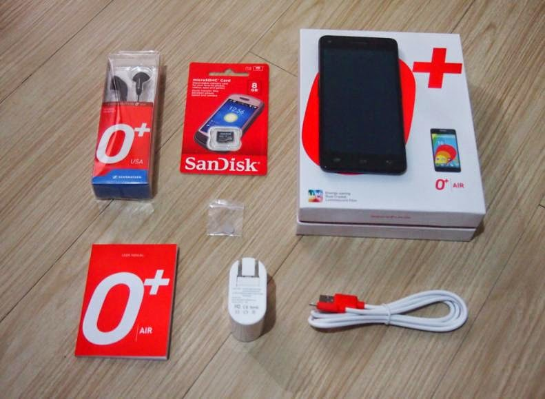 O+ USA AIR Unboxing, Preview And Initial Impression Retail Package