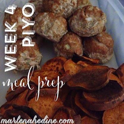 week 4 piyo food prep