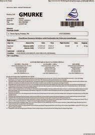 contoh tiket elektronik, contoh tiket online