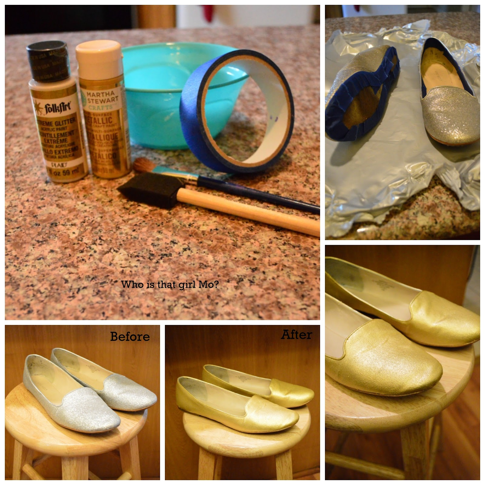 gold loafers tutorial photos {who is that girl mo?}