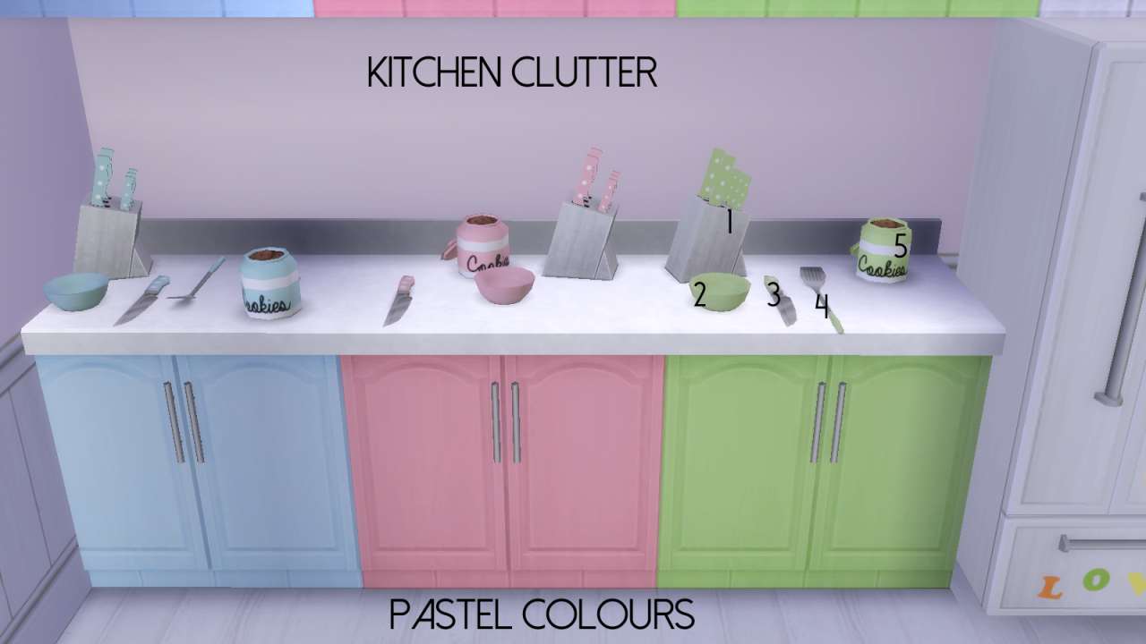 Pastel Kitchen My Sims 4 Blog Pastel Bright Kitchen Recolors By Dreamcatchersims