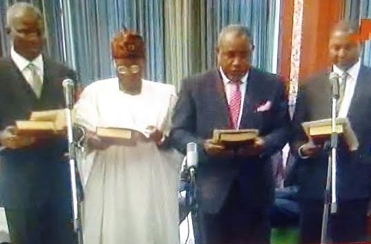 Fashola, Ocholi, Lai Mohammed, Malami take oath of office