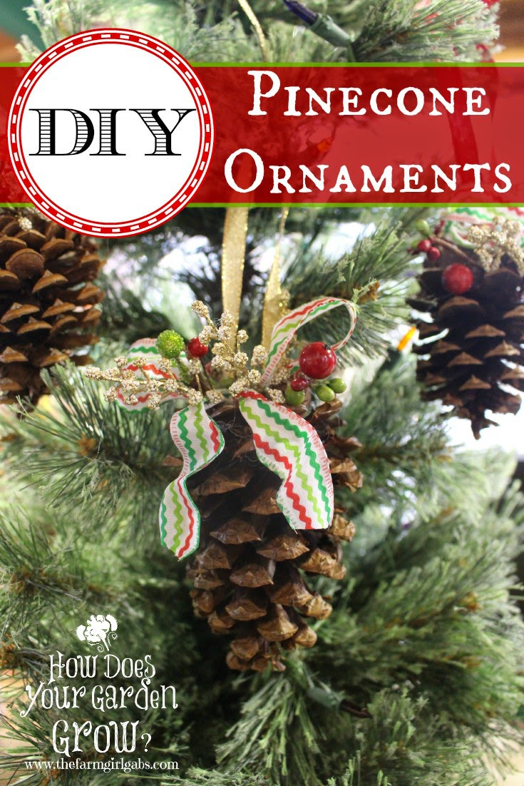 how to make pinecone-ornaments