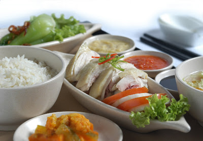 Hainanese chicken rice on Singapore Airlines Book the cook special pre-order service.