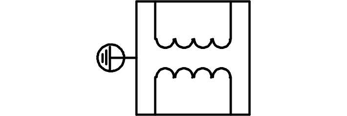 direct current symbol. this is an ac/dc converter, as the name says, converts alternating current into direct current. symbol