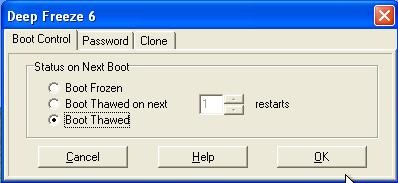 freeze deep windows install boot isc sans turn thawed then