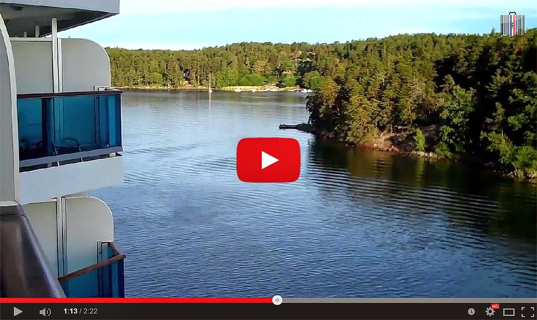 Aurore d'été sur la Baltique entre les îles de l'archipel de Stockholm (sw).