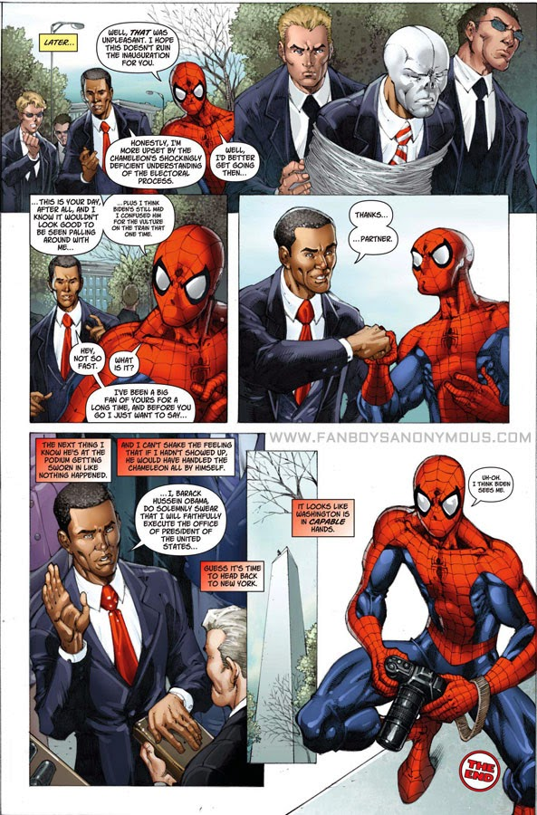 Impostor Barack Obama enemy villain Spider-Man series