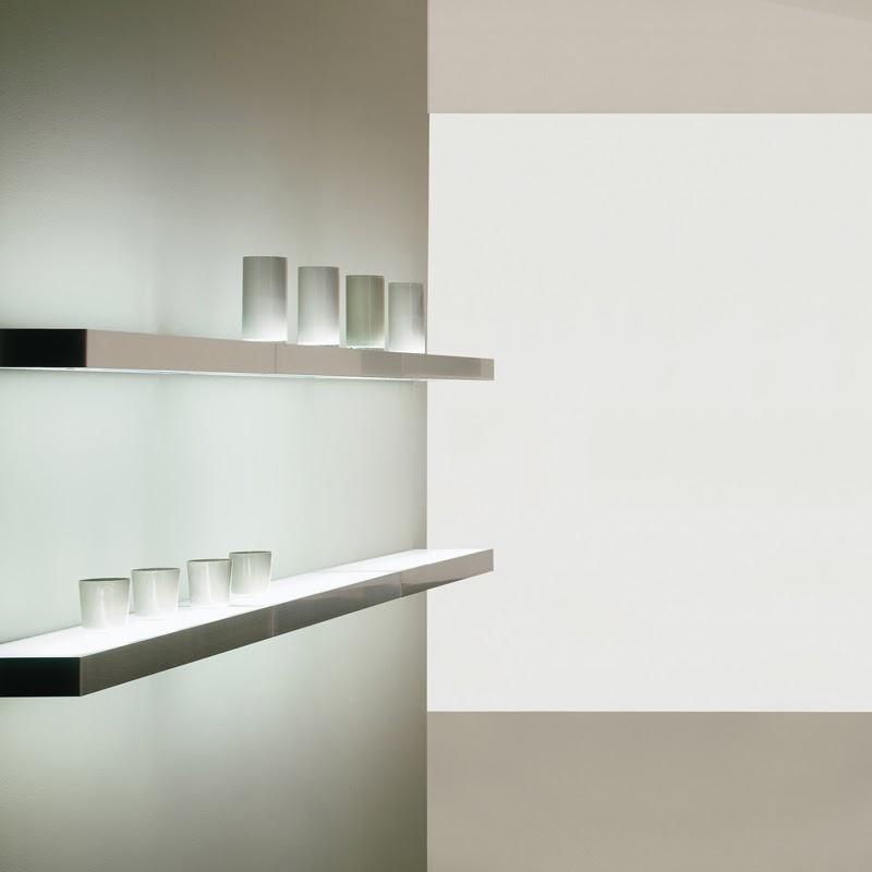 estante luminoso cocina aluminio TEO fluorescente interruptor