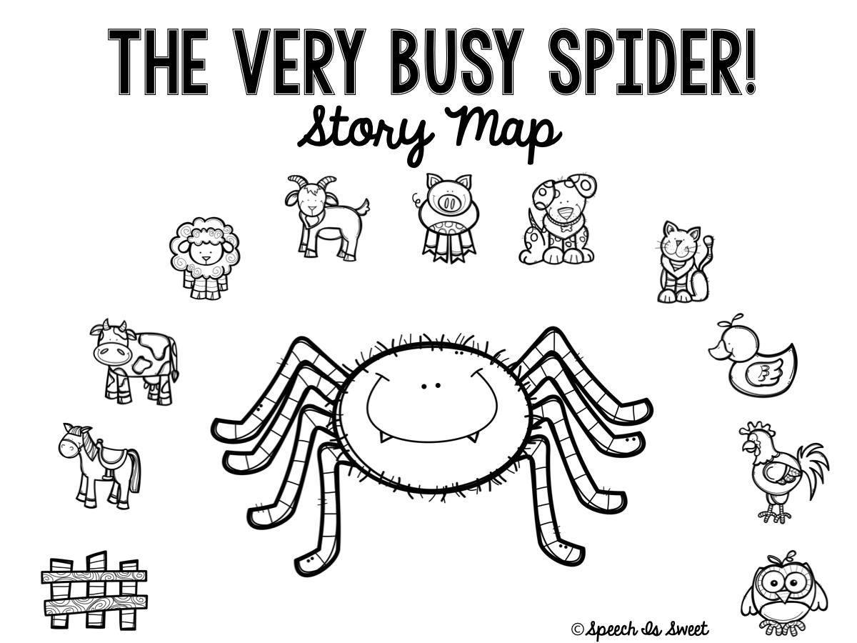 speech is sweet the very busy spider plus freebie