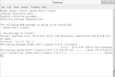 openSUSE 13.1 Milestone 4, GNOME live ISO zypper gnome shell classic