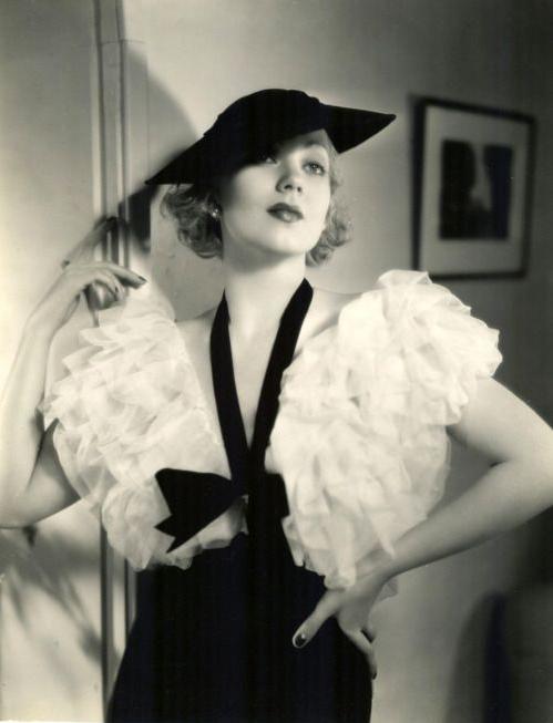 Ruffles Across the Eras ~ 1930s #vintage #fashion #1930s #ruffles