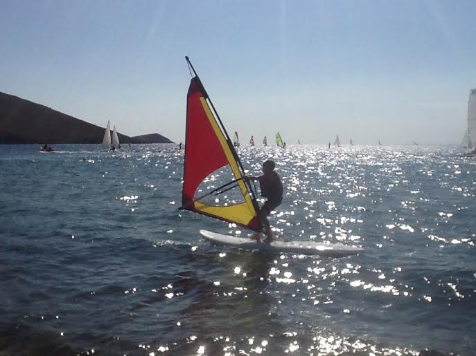 windsurfing, mark warner lemnos