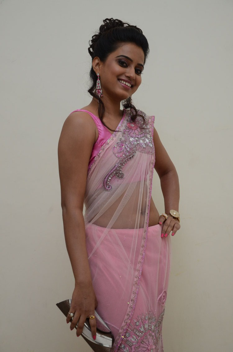 Dimple Chopade  Pictures in Saree at Romance Telugu Movie Audio Launch  0004