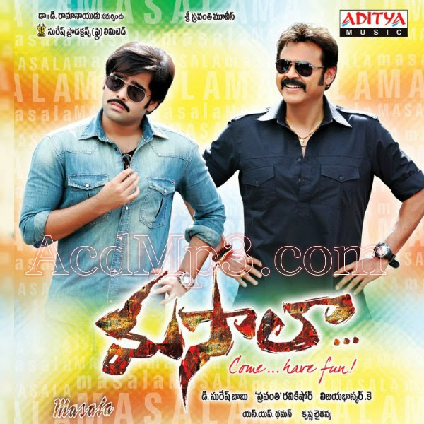 Masala(2013)Telugu Movie Mp3 Songs Free Download 1st Time On Net