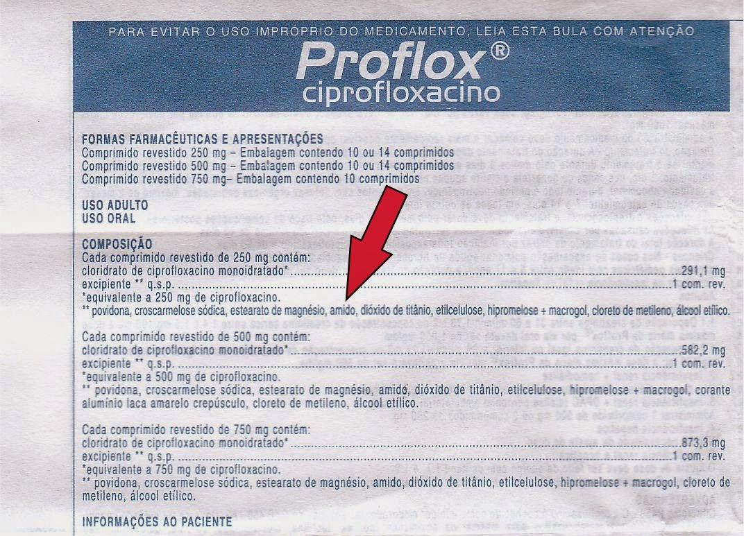 ciprofloxacino original