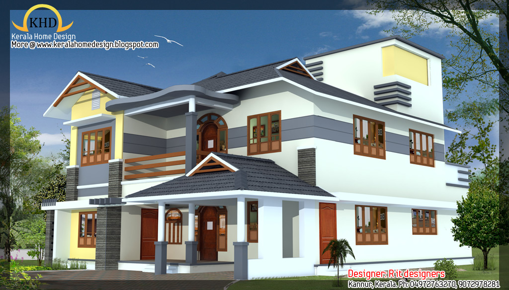 3 Awesome House Elevations Kerala Home Design And Floor Plans