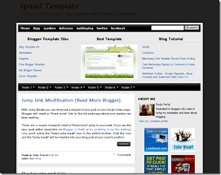Spirad Blogger Template