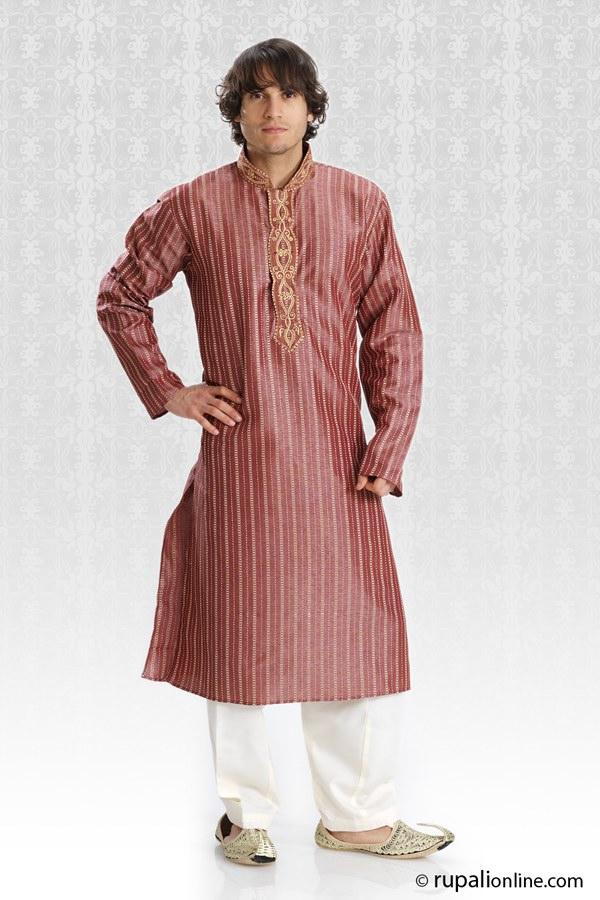 Men fashion dresses kurta with resham thread