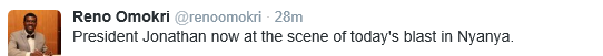 Tweet Photos President Jonathan Cancels Trip to Ibadan, Visits Bomb Blast Scene