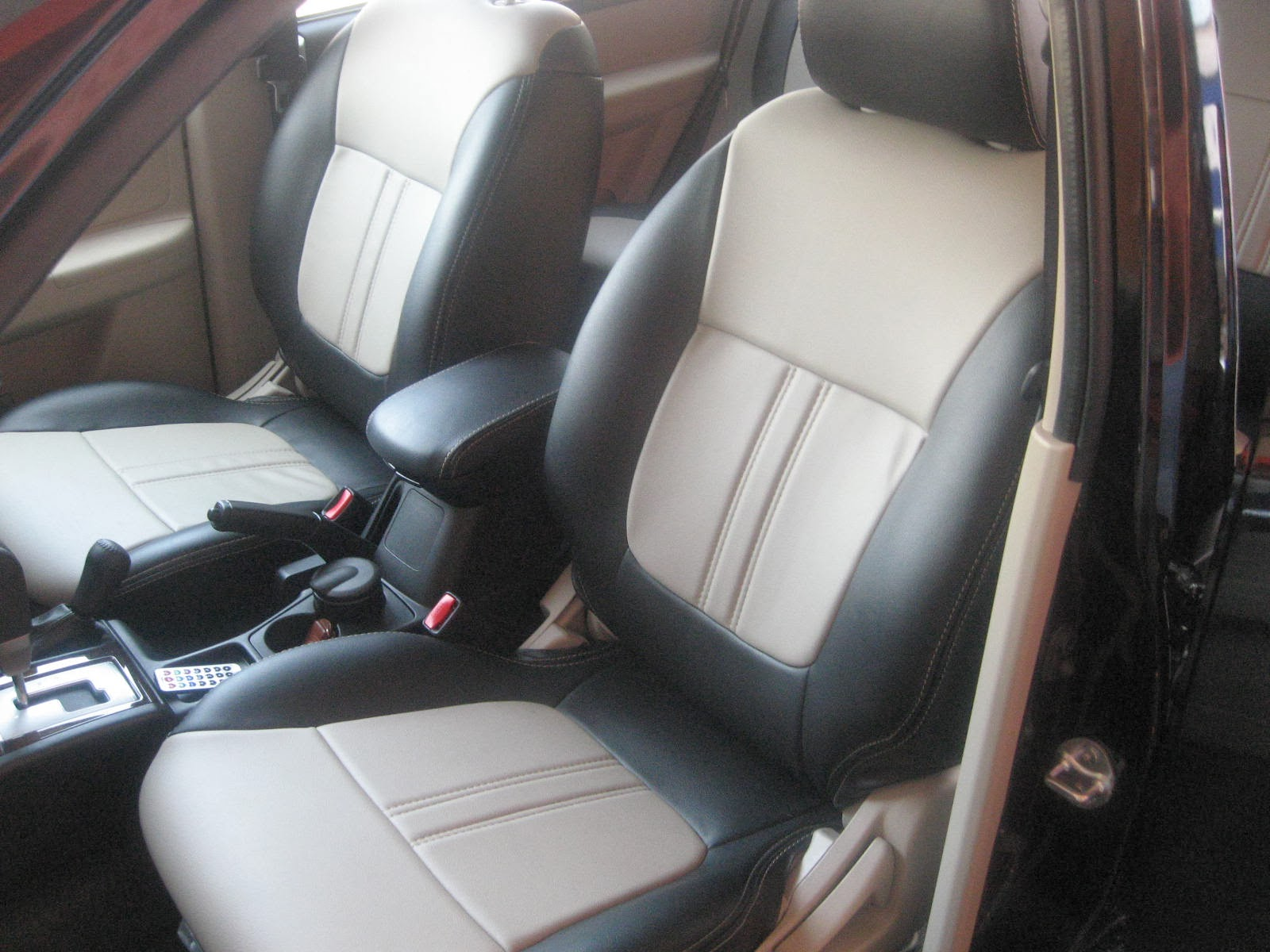 Montero Sport 2013 Leather Seat Covers With Full Interior Protection Kit Vip Car Interiors