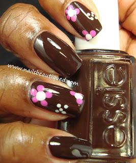 busy girl nails fall nail art challenge  week 5 dark