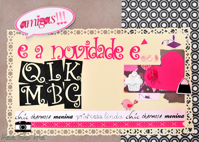 Caixa amigas scrapbook