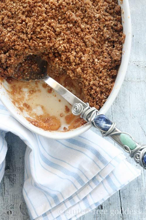 Karina's gluten-free apple crisp with quinoa flakes.