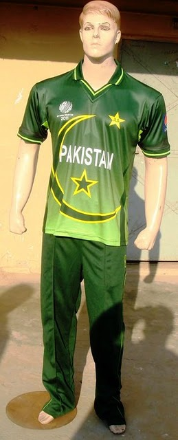 Pakistan Cricket Team's Kit in the Cricket World Cup 2011