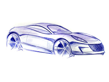 how to draw a 3d sports car