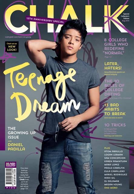 Daniel Padilla Covers Chalk Magazine August 2013 Issue