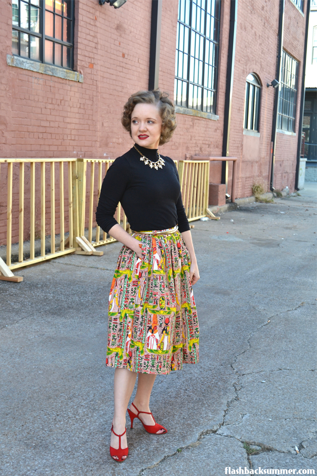 Flashback Summer: Ancient Egypt Skirt - vintage inspired outfit